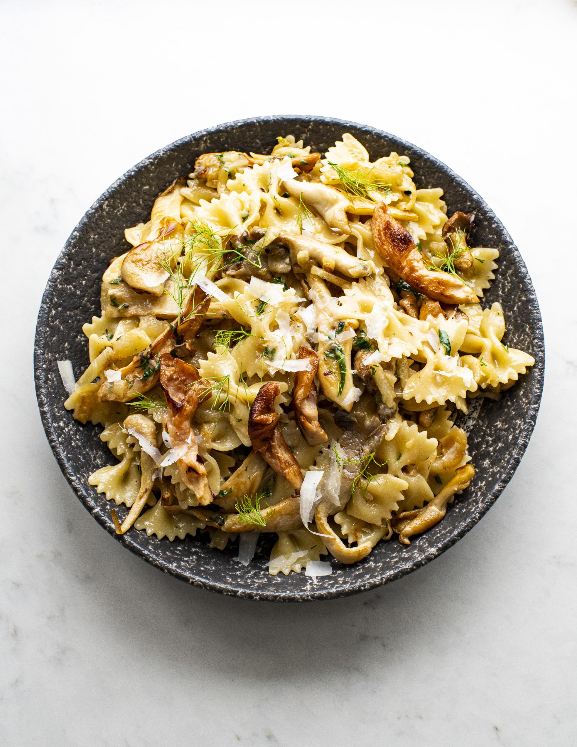 Caramelised Fennel and Mushroom Pasta