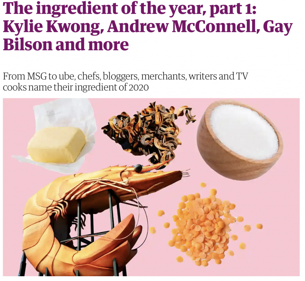 Guardian Australia Ingredient of the Year Rupal Bhatikar