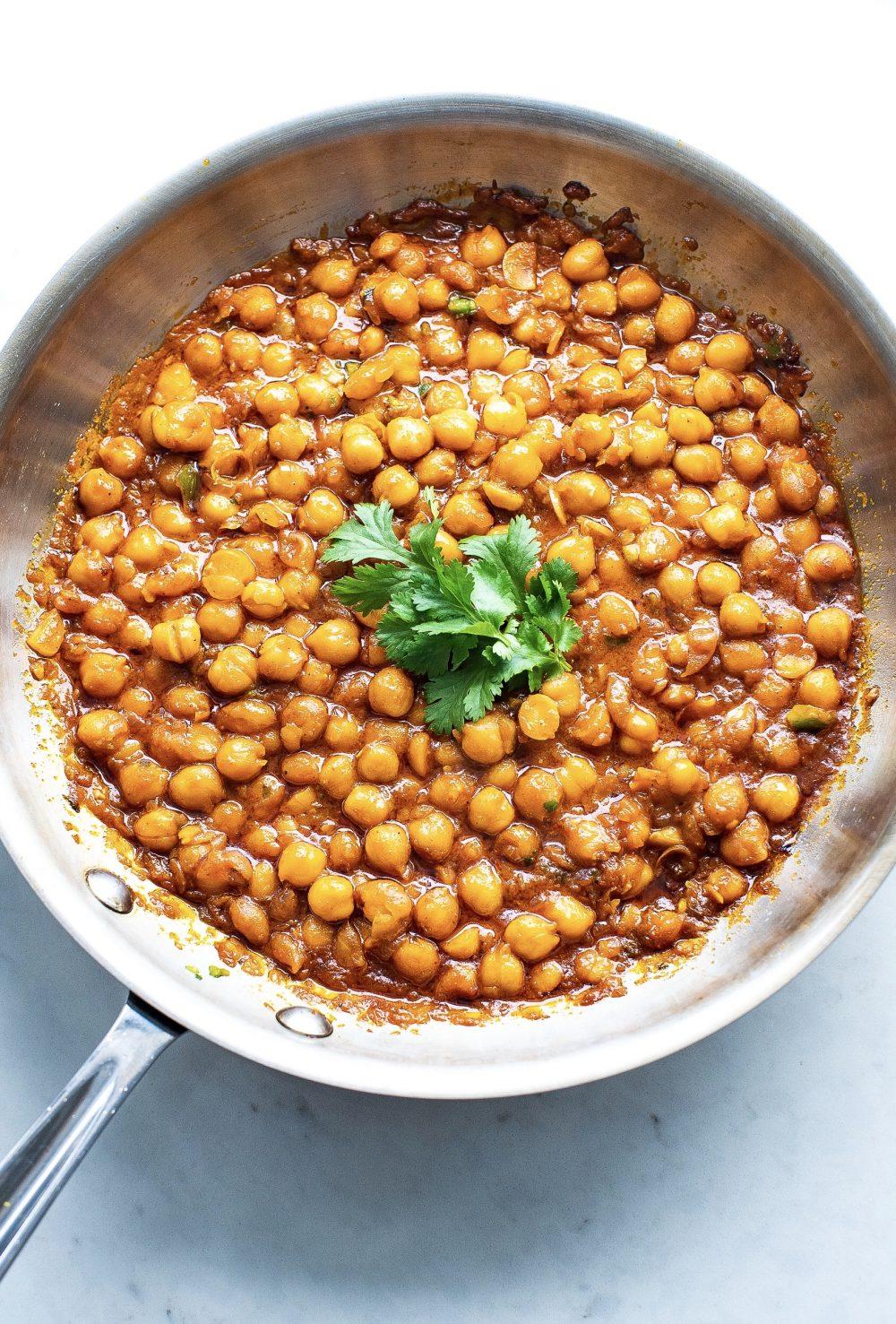 Easy Vegan Chickpea Chana Masala
